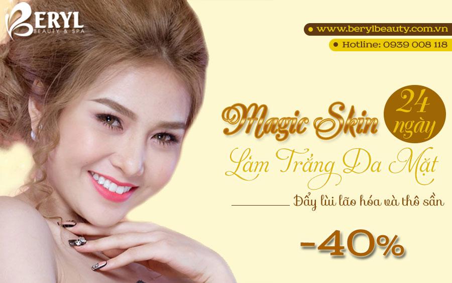 Magic Skin - Công Nghệ làm trắng da mặt tại Beryl Beauty & Spa