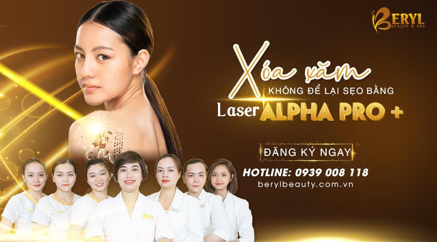 Xóa hình xăm bằng Laser Alpha Pro+ tại Beryl Beauty & Spa