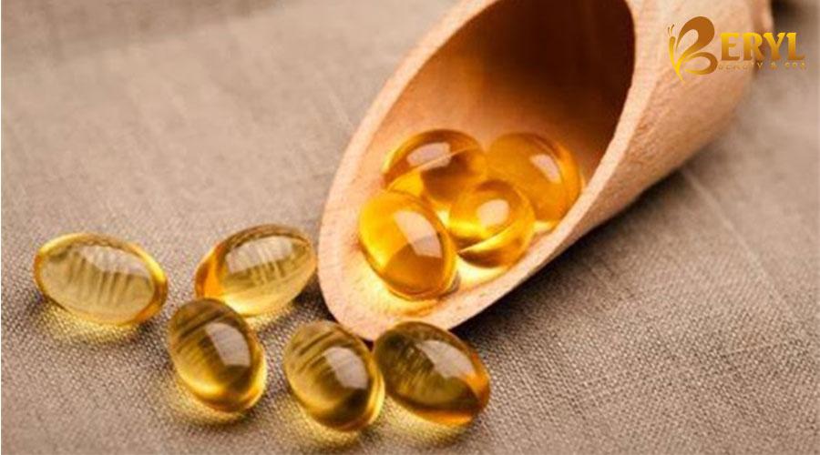 Dầu vitamin E điều trị vết sẹo thâm ở chân