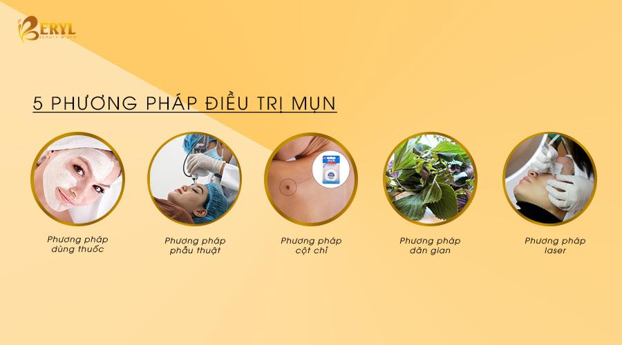 Có 5 phương pháp để điều trị mụn thịt