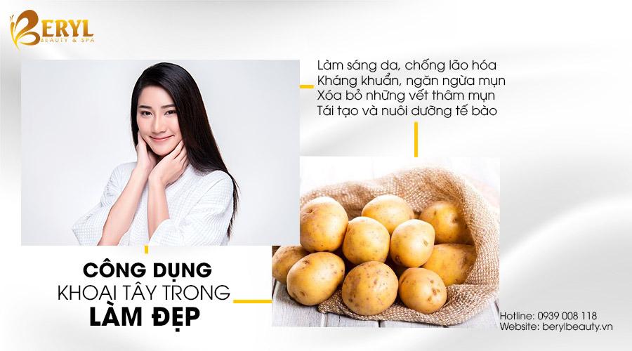 Công dụng của khoai tây trong làm đẹp